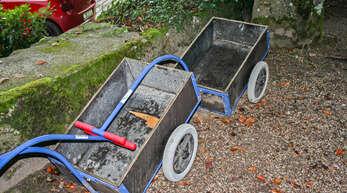Die Wägelchen für den Abfall auf dem Friedhof werden von einem Großteil der Hornberger Bevölkerung nicht akzeptiert.