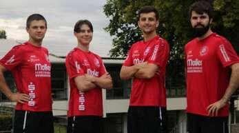 Bereit für die Tischtennis-Regionalliga (v. l.): Kestutis Zeimys, Tom Schaufler, Marcel Neumaier und Andreas Bußhardt.