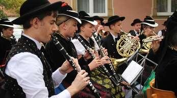 Zum Herbstfest des Musikvereins gehört Musik – hier spielt der Musikverein Siensbach, heuer tritt der Musikverein Seelbach auf.