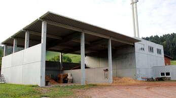 Die Heizzentrale der Wärmeversorgung Oppenau in der Mengelsmatt, die von den Stadtwerken Oppenau übernommen werden soll. Die Anlage wird mit Hackschnitzeln betrieben.