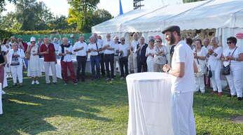 Der Vorsitzende Benjamin Schäfer begrüßte Sponsoren und Ehrengästen zur Feier des 100-jährigen Bestehens.