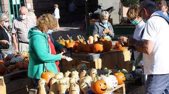 Beim Kürbismarkt in Haslach gab es mehr als 55 Sorten zu kaufen.