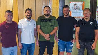Der neue SCO Vorstand (von links): Waldemar Kraus (Sport/Jugend), Narek Sermanoukian (Sport), Dennis Schwindt (Verwaltung), Benny Nagelbach (Finanzen) und Daniel Kempf (Marketing).