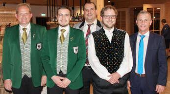 Der neue Präsident des Blasmusikverbands Kinzigtal Stefan Polap (von links) mit den neuen Präsidiumsmitgliedern Nico Armbruster (Beisitzer), Mathias Gronert (Verbandsdirigent) und Sascha Jager (Beisitzer) sowie dem ausgeschiedenen Präsidenten Armin Klausmann.