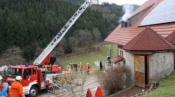 2015 haben die Feuerwehren der Raumschaft auf dem Schulersberg geprobt. Gerade in den Außenbereichen ist es wichtig, dass ausreichend Löschwasser sichergestellt ist.