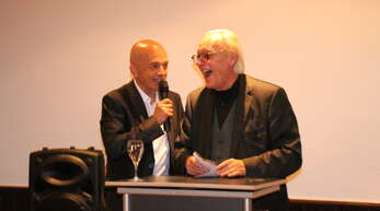 Zwei, die sich verstehen: Kandidat für den Deutschen Bundestag Taras Maygutiak (links), Bundestagsabgeordneter Martin E. Renner.