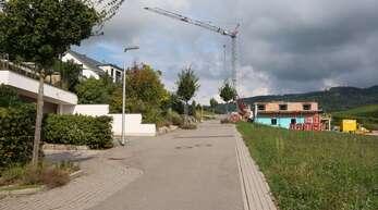 """Ein Eigentümer der Baugrundstücke im Baugebiet """"Tanzberg""""in Tiergarten konnte nach der Erschließung schon mit dem Hausbau beginnen."""