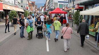 Die Acherner Innenstadt war gut, wenn auch nicht übermäßig stark gefüllt.