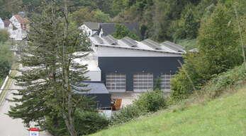 Schiltach Fotovoltaikanlage auf dem Dach des Bauhofs