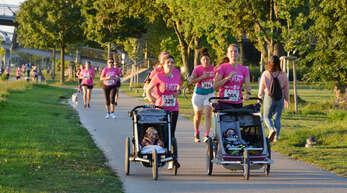 Zum vierten Mal haben die Teilnehmer des Ma'Dame Laufs in Pink ein Zeichen gegen Brustkrebs gesetzt.