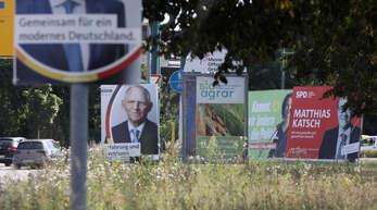 Plakate der Bundestagswahl 2021.
