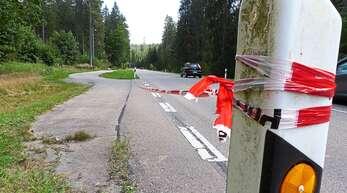 An dieser Parkbucht wurde die Leiche gefunden.