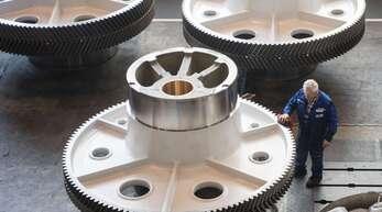 Maschinenbauer können sich über eine gute Auftragslage freuen. Unser Foto zeigt ein sogenanntes Exzenterrad eines Pressenherstellers.