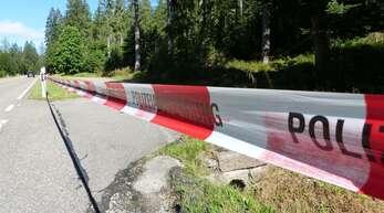 Der Parkplatz an der B 28, in dessen Nähe die Leiche gefunden wurde.