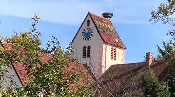 Der Glockenturm der Johanneskirche in Bodersweier.