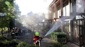 Herbstübung der Fischerbacher Feuerwehr bei der Brandenkopfhalle.