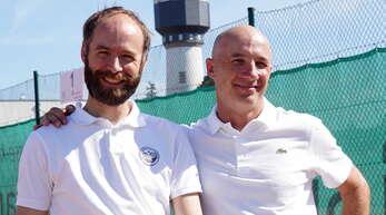 Erfolgsgaranten: Präsident Benjamin Schäfer (links) und Vereinstrainer Goran Gerdijan.