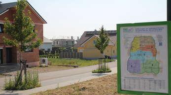 Im Baugebiet Laugasserfeld gibt es Unmut unter Bauherren, weil sich manche nicht an die Satzung halten. Unser Bild zeigt kein Anwesen der Beteiligten.
