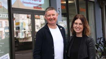 Matthias und Anja Schulte vom Gesundheitszentrum Elithera engagierten sich für die Schnellteststation.
