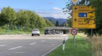 Diese Auffahrt von der Kirchstraße in Achern auf die Bundesstraße 3 wird es nach heutiger Planung nicht mehr geben, wenn die Nordtangente gebaut wird.