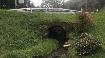 Die Brücke beim Peterhof in Fischerbach (Waldstein) muss erneuert werden