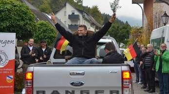 Der Ringer Peter Öhler wurde mit einem großem Empfang geehrt.