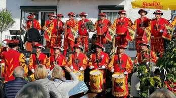 Der Fanfarenzug aus Offenburg sorgte für lange nicht mehr gehörte Klänge. Auch das für einen guten Zweck.