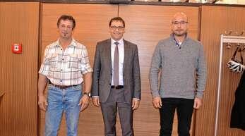 Einen Wechsel gab es im Acherner Gemeinderat in der CDU-Fraktion, von links Nachrücker Joachim Genter, OB Klaus Muttach und Ex-Stadtrat Josef Seifermann.