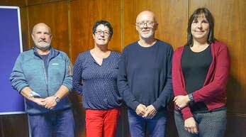 Der neue und alte Vorstand des Fasnet-Fördervereins Wolfach (von links): Klaus Sauerbrunn, Susi Riester, Bernhard Stelzer und Milena von Zelewski.