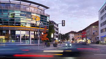 """Das Gebäude, in dem sich die Commerzbank befindet, steht am """"Tor zur Innenstadt"""" und hat somit eine wichtige Stellung bei der Präsentation der Stadt."""