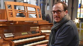 Traugott Fünfgeld spielt morgen sowohl an der Steinmeyer-Orgel (Bild) als auch an der Digitalorgel.