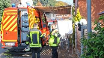 Die Einsatzleitung beim Gas-Alarm in Bollenbach hatte Haslachs Kommandant Stefan Possler, Kreisbrandmeister Bernhard Frei war ebenfalls vor Ort.