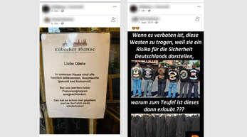 Der Stein des Anstoßes: An diesen geteilten Facebookbeiträgen entzündet sich Leon Kuderers Unmut.