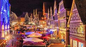 Der Weihnachtsmarkt erstreckt sich dieses Jahr auf eine größere Fläche wie sonst (hier 2019).