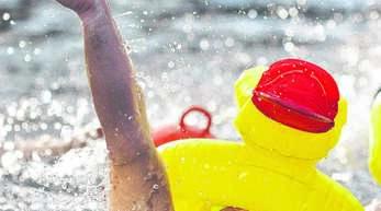 Wenn sich Wagemutige beim Neujahrsschwimmen in den eiskalten Erlenparksee stürzen, werden sie frenetisch von den Zuschauern angefeuert. Die fünf größten Gruppen erhalten Pokale. Am Sonntag, 10. Januar, geht es in der World of Living in Rheinau-Linx wieder zur Sache