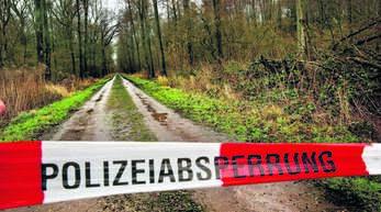 Der Körper der jungen Frau wurde auf diesem Fahrweg zwischen Legelshurst und Zierolshofen gefunden.