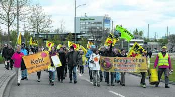 Tschernobyl, Fukushima, Fessenheim: Rund 300 Demonstranten protestierten am Sonntag gegen die Nutzung der Atomkraft und forderten die Abschaltung des französischen Alt-Meilers in Fessenheim.