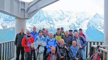 In schwindelerregender Höhe von 3842 Metern: die sportlichen Jedermänner aus Achern.