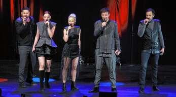 Krankheitsbedingt in Offenburg nur zu Fünft: OnAir ist eine der aufregendsten Formationen der A-cappella-Szene.