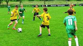 Um Tore, aber vor allem den Spaß ging es beim Fußballturnier der Grundschulen in Oberschopfheim.