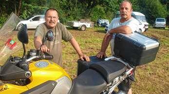 Harald Ziegler (links) verstarb Ende Mai überraschend. Vorstandskollege Martin »Samy« Ehret (rechts) und die Motorradfreunde wollen trotzdem am Lendersbach-Treffen festhalten, das im August stattfindet.