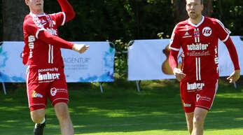 Neuzugang Marius Riffel (l.) und Sven Muckle haben mit dem FBC Offenburg am Sonntag gegen den TV Vaihingen/Enz den zweiten Saisonsieg eingefahren.