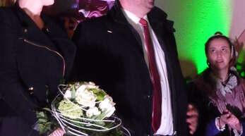 Phlipp Saar - hier mit Lebensgefährtin - ist neuer Bürgermeister von Haslach.