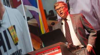 Bill Gates bei der Internationalen Auds-Konferenz im südafrikanischen Durban.