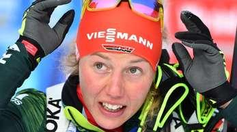 Ist vor Olympia gut in Form: Biathletin Laura Dahlmeier.