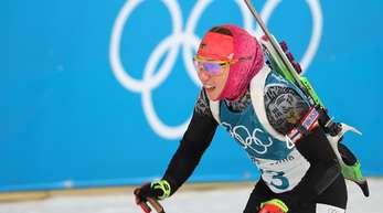 Laura Dahlmeier blieb beim Schießen fehlherfrei.
