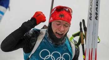 Benedikt Doll gewann in der Biathlon-Verfolgung die Bronzemedaille.