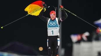 Laura Dahlmeier siegte auch in der Verfolgung.