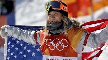 ChloeKim war die Beste in der Halfpipe.