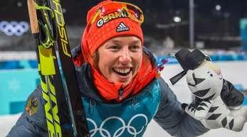Laura Dahlmeiers Chance auf eine dritte Medaille muss warten. Das Einzel der Damen wurde vertagt.